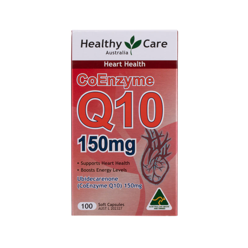 [CNY Promotion] Healthy Care CoEnzyme Q10 150mg 100 Capsules (Expiry Date: Sep/Nov 2021)