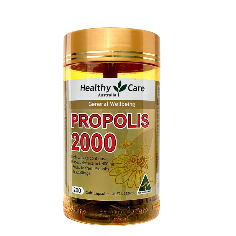[CNY Promotion] Healthy Care Propolis 2000 200 Capsules (Expiry Date: Oct/Nov 2021)