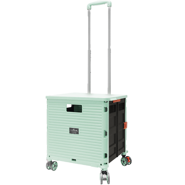 [T] Hallmark 4 Wheels Foldable Trolley (Turquoise)