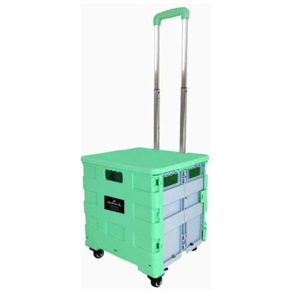 Hallmark 4 Wheels Foldable Trolley (green)-HM876