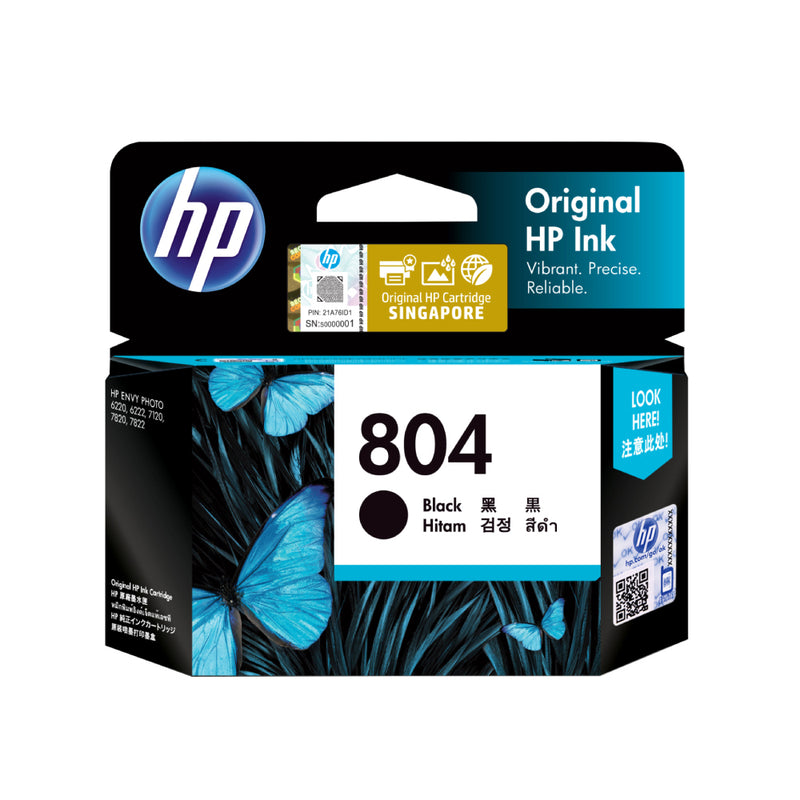 [T] HP ENVY 6220 ALL-IN-ONE PRINTER + HP 804 INK CARTRIDGE-BLACK
