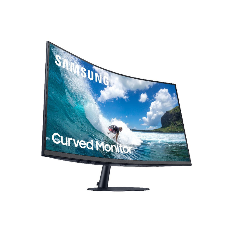 "Samsung 24"" Curved Monitor with optimal curvature 1000R LC24T550FDCXXK"