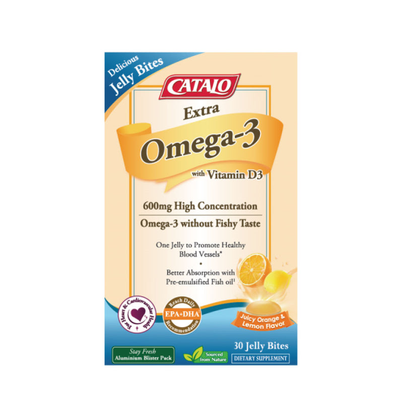 [Flash sales] CATALO Extra Omega-3 with Vitamin D3 Jelly Bites 30 Jelly Bites