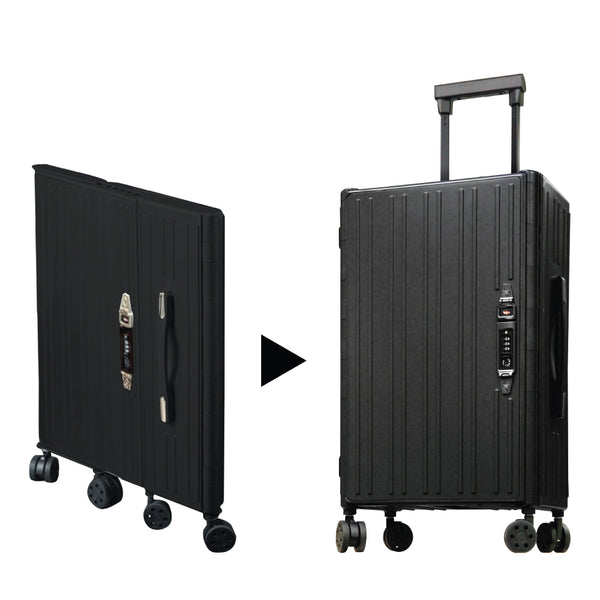 "[T] Hallmark 20"" Foldable Suitcase – Black"