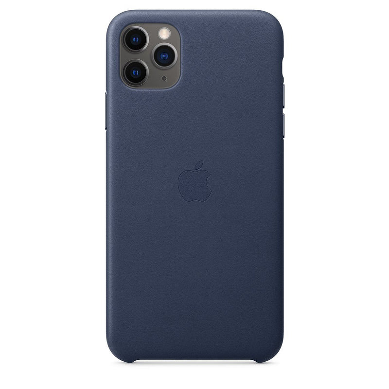 [T] iPhone 11 Pro Max Leather Case - Midnight Blue