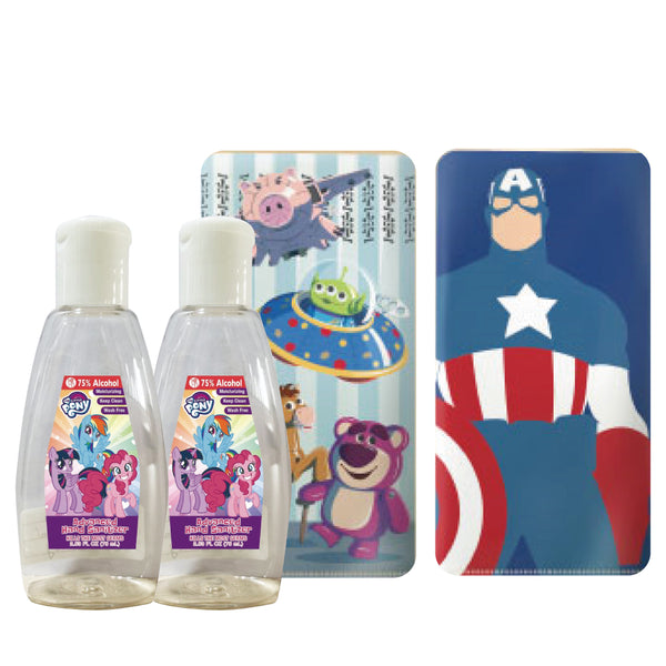 [12.12] My Little Pony 75% Hand Sanitizer  x2 + Mask folder x2 (Marvel + Toy Story)