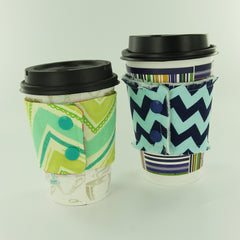 Coffee Cozies with KAM Plastic Snaps