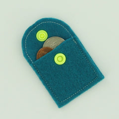 Felt Coin Purse with KAM Plastic Snaps