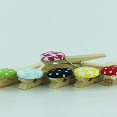 Fabric Cover Button Full-Size Clothespin
