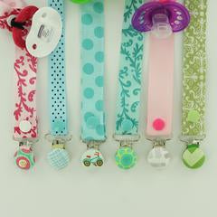 Cover Button Metal Pacifier Clips
