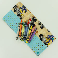 Crayon Roll with KAM Plastic Snaps