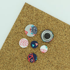 Fabric Cover Button Magnet