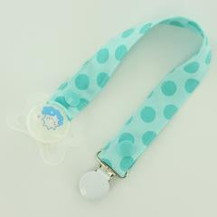 Fabric Pacifier Clip with MAM Ring or O-Ring