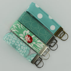 Fabric Key Fob Hardware Wristlets