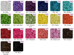Heart Shaped - KAM Plastic Snap Color Chart