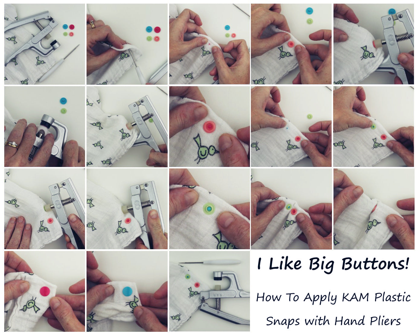 How To Install A KAM Plastic Snap