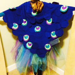 Peacock Halloween Costume with KAM Plastic Snaps