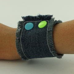 Making a Recycled Jean Cuff Bracelet with KAM Snaps – I Like