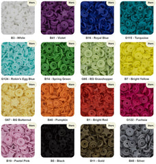 Star Shaped - KAM Plastic Snap Color Chart