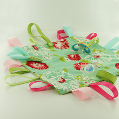 Soother Tag Ribbon Blanket with KAM Plastic Snaps