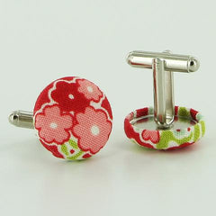 Fabric Cover Button Cufflinks