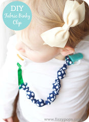 Fabric Beaded/Teething Binky Clip