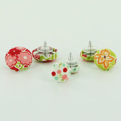 Cover Button Earrings