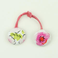 Fabric Cover Button Ponytail Holders