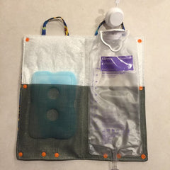 Insulated Feeding Tube Bag Cover with KAM Plastic Snaps