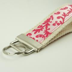 Ribbon and Cotton Webbing Key Fob Wristlet