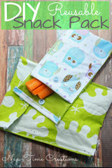 Reusable Snack Pack with KAM Plastic Snaps