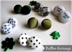 St. Patty's Cover Button Earrings