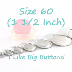 Size 60 (1 1/2 inch / 38 mm) FLAT BACK Cover Buttons