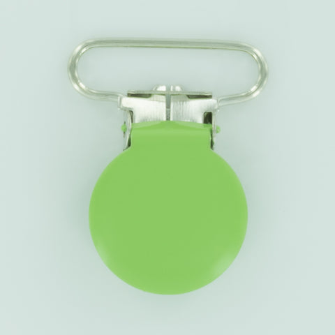 "1"" (25mm) Round Shaped Enameled Metal Clips (G65 - BG Grasshopper)"