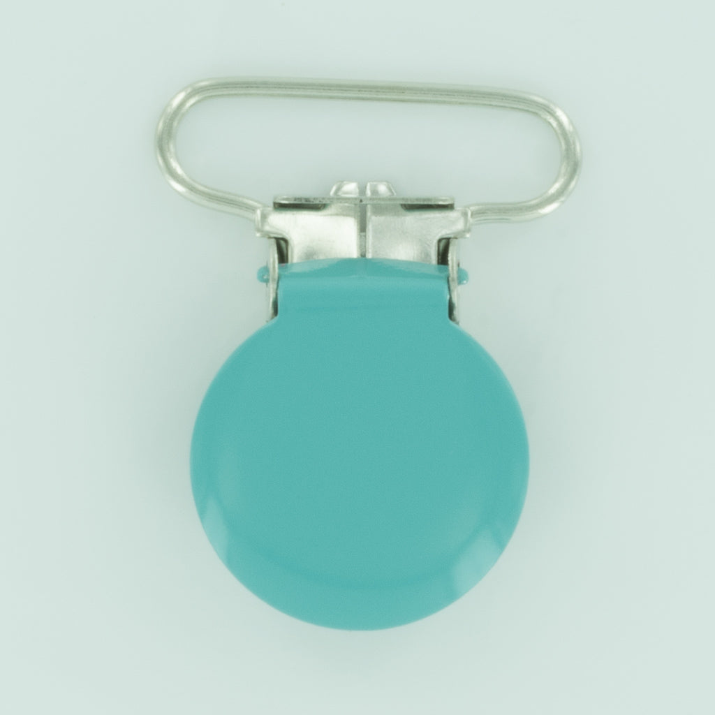"1"" (25mm) Round Shaped Enameled Metal Clips (G96 - BG Mirror)"