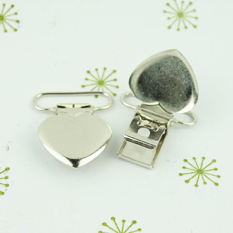 Wholesale - Heart Shaped Metal Clips