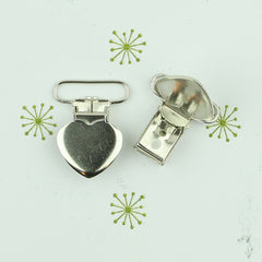 "1"" Heart Suspender Clips"