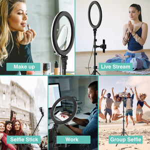 "(50% OFF Promotion)10"" Selfie Ring Light with Tripod Stand-Only 1000 Sets Left In Stock"