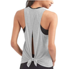 Casual Knotted Slit Yoga Tank