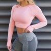 Classic Seamless Long-Sleeve Crop Top