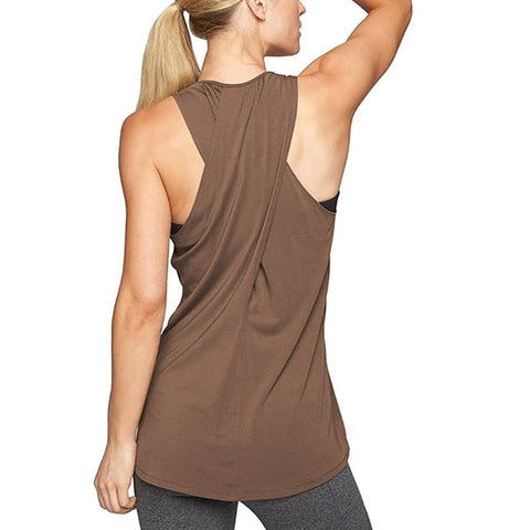 Loose Cross-Back Yoga Tank