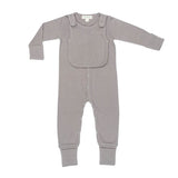 Organic Cotton  - Smart, Flip Footed PJ's w/ Bib - Bird and Bee Naturals