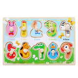 Children's 10pcs Wooden Puzzle -(Various Sizes) - Bird and Bee Naturals