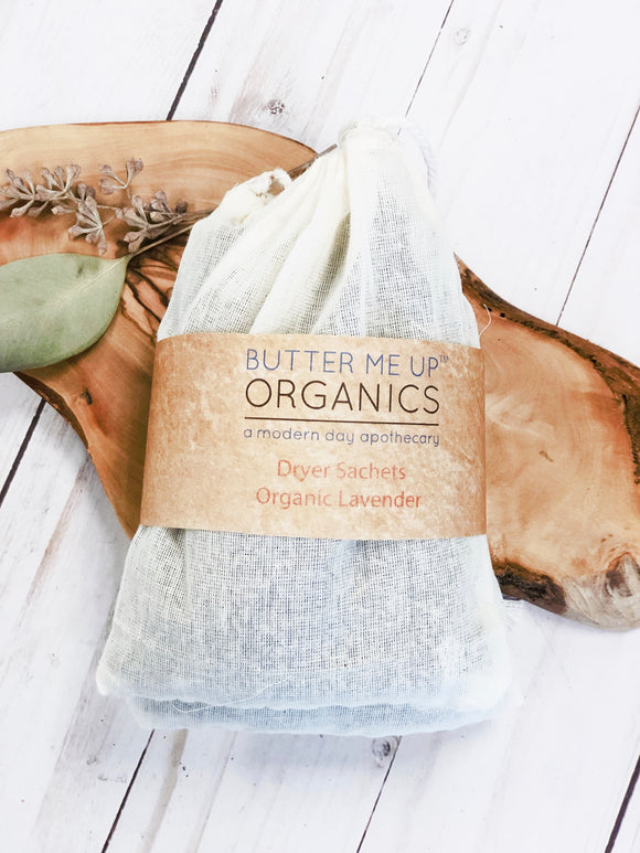 Dryer Sachets- Organic Lavender - Bird and Bee Naturals
