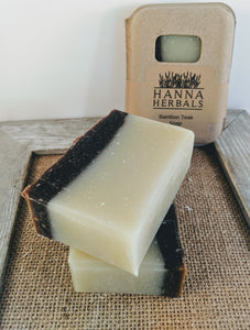 Organic Bamboo Teak Rose Hip Cold Processed Soap - Palm Oil Free - Bird and Bee Naturals