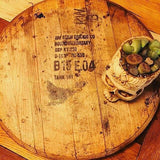 Reclaimed Bourbon Whiskey Barrel Lazy Susan - Bird and Bee Naturals