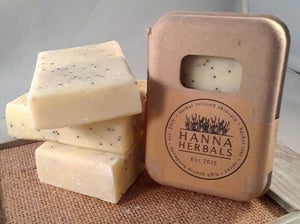 Lemon Poppyseed Soap - Palm Oil Free Organic - Bird and Bee Naturals