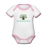 Organic Cotton Short Sleeve Baby Bodysuit - Bird and Bee Naturals