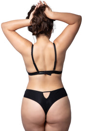 black exercise thong nude orange lingerie
