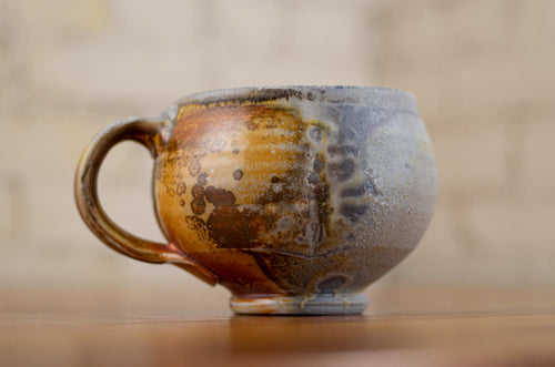 Wood-Fired Porcelain Coffee Mug